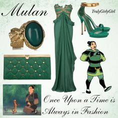 Disney Style: Mulan created by trulygirlygirl Disney Prom Dresses, Disney Character Outfits, Disney Princess Outfits, Disney Themed Outfits, Character Inspired Outfits, Disney Bound Outfits, Disney Princesses, Cute Fashion, Look Fashion