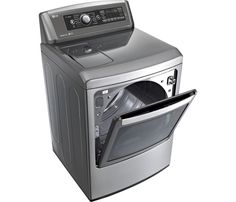 LG - EasyLoad 7.3 Cu. Ft. 14-Cycle Electric Dryer with Steam - Graphite Steel - AlternateView14 Zoom