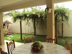 Área de lazer Little Gardens, Small Gardens, Outdoor Gardens, Tropical Backyard, Backyard Landscaping, Garden Wall Designs, Garden Design, Terrace Garden, Diy Patio