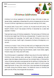 Christmas  Hanukkah Reading Comprehension Activities  FREE