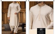 e59621eb78 Buy Men Pakistani Shalwar Kameez in Light Color with Threads Embroidery and  Handwork on Gala Online. Nameera by Farooq