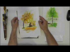 Как рисовать этюды?  Работаем акварелью и акрилом. - YouTube