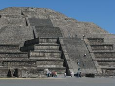 Teotihuacan, Mexico - Pyramid of the Sun's completed size of 738 feet (224.942 meters) across and 246 feet (75 meters) high, makes it the third largest pyramid in the world.