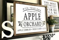 Farmhouse Sign   Apple Orchard   Fall Sign   Fall Decor   Apple Sign   Autumn Sign   Fall Decor   Fixer Upper   Modern Farmhouse   Apples