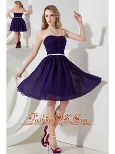 Buy popular purple strapless knee length chiffon prom dress for short girls from luxurious prom dresses shop, strapless neckline empire black prom knee length party cocktail party homecoming graduation dress with zipper and . Purple Lace Bridesmaid Dresses, Strapless Prom Dresses, Quinceanera Dresses, Homecoming Dresses, Bridesmaid Gowns, Bridesmaids, Dresses Elegant, Cheap Evening Dresses, Cheap Prom Dresses