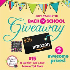 Life As I Know It...: $50 Back to School GIVEAWAY!