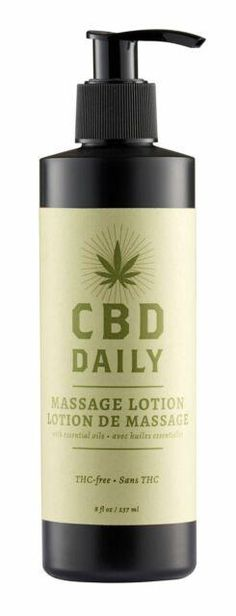 Unlock New Body SensationsEarthly Body CBD Daily Massage Lotion 8 fluid ounces. Enjoy the refreshing sensation of our CBD Daily Massage Lotion on your skin to give you an extra bit of relaxation on those tense days. Massage Lotion, Mens Toys, Seed Oil, Soap Dispenser, Essential Oils, Make Up, Fragrance, Alcohol, Cosmetics