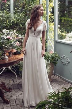 160 trendy wedding dresses this year – page 1 Plain Wedding Dress, Making A Wedding Dress, Wedding Dress Sleeves, Dream Wedding Dresses, Bridal Dresses, Simple Short Sleeve Wedding Dress, Casual Wedding Dresses, Dress Casual, Wedding Gowns