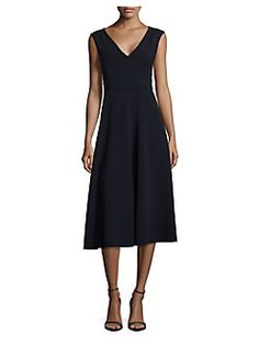 Max Mara Studio - Aprile V-Neck Knee-Length Dress