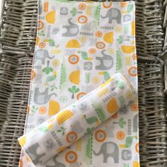 New burp cloths for baby - ideal for a new baby gift or baby shower!