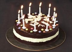 Chocolates, Birthday Candles, Birthday Cake, Happy Birthday, Chocolate Lovers, Cake Cookies, Cooking, Desserts, Recipes