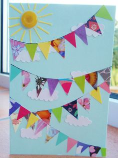 A Handful Of Buttons: Summer Bunting Card
