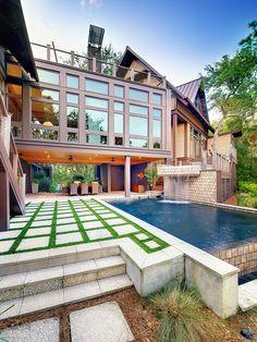 Stone Contemporary Modern Architecture Veranda Design, Pictures, Remodel, Decor and Ideas