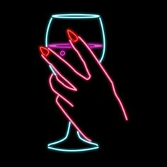 Trending GIF drink drinking neon wine hand alcohol bubbles champagne thirsty noir liquor neon lights manicure femme fatale thirst bubbly drink up red nails neo noir woman's hand you thirsty you're thirsty Tumblr Neon, Png Tumblr, Disco Licht, Drinking Gif, Neon Led, Neon Quotes, Neon Noir, Neon Words, Wine Signs