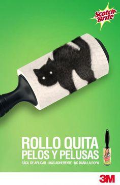 Rollo Quita Pelos y Pelusas - Fácil de Aplicar . Más Adherente - No Daña la Roma (3M Advertising)