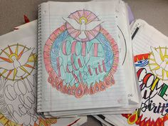 Look to Him and be Radiant: Come, Holy Spirit Pentecost Coloring Page
