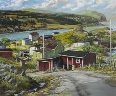 Anthony Batten, The Ebbing Day, Trinity East, Newfoundland, 40x48 acrylic on canvas, Newfoundland (from Arabella Canadian Landscape Competition)