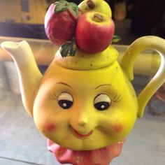 Very Unique Vintage Teapot With Face
