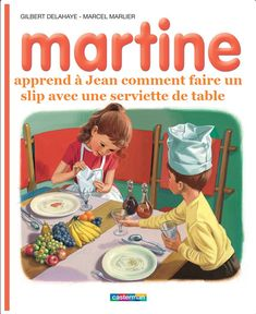 Martine apprend à Jean comment faire un slip avec une serviette de table