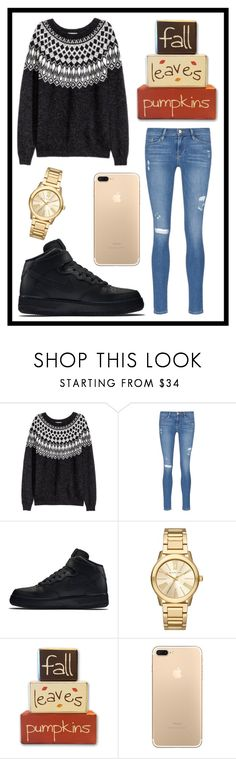 """""""#545 fall"""" by xjet1998x ❤ liked on Polyvore featuring Frame Denim, NIKE and Michael Kors"""