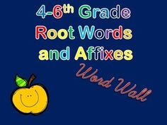 Color Coded root word, prefix, and suffix word wall cards - maybe use ...