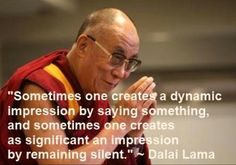 Silence can be powerful....