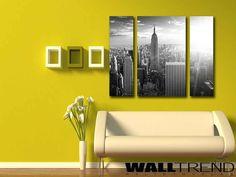 Manhattan látkép 3 részes vászonkép - WALLtrend - faltetoválás, falmatrica, faldekoráció