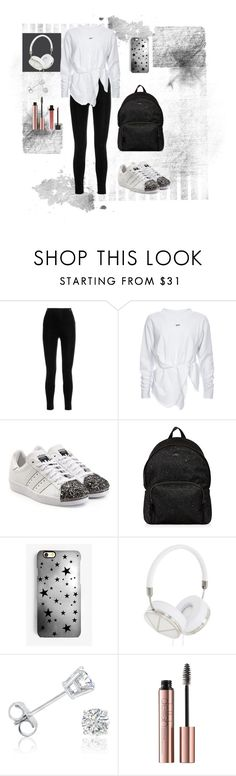 """""""#Supergirl💁🏻"""" by renesma1 ❤ liked on Polyvore featuring Balmain, adidas Originals, Hogan, Rianna Phillips, Frends, Amanda Rose Collection and Jouer"""