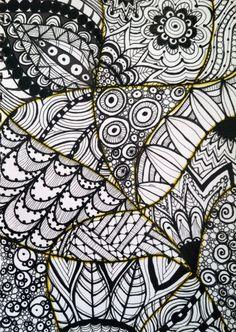Molly Alexander - Zen Doodle Art Journal Page