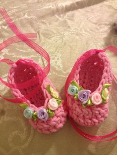 crochet ballerina baby shoes 0-3,3-6,6-9 months on Etsy, $10.00