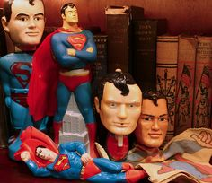 Vintage Superman toy collection. I had the Superman brush when I was a kid.