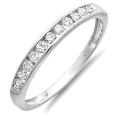 0.33 Carat (ctw) 10K White Gold Round Diamond « Holiday Adds