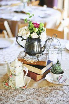 Table decor for tea party vintage tablescape wedding
