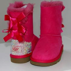 ❦ Luxury Bailey Bow Ugg Boots made w Swarovski Crystals by luxeice bei