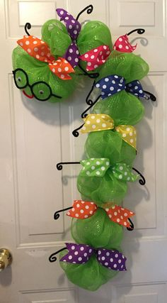 Bookworm wreath back to school wreath back to by WandNDesigns