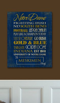 Notre Dame!! Fighting Irish <3 University of Notre Dame