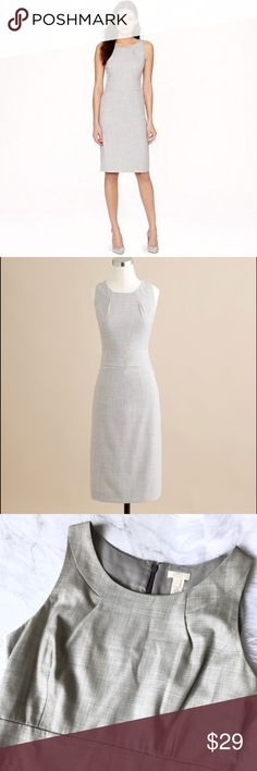 """J.Crew dress sz 10 super 120's wool J.Crew dress. Great condition, just needs to be steamed. Chest flat across 19"""" waist flat across 16"""" hips flat across 21"""" length 39"""" J. Crew Dresses"""