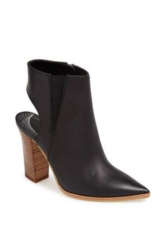 'Meridian' Cutout Pointy Toe Leather Bootie