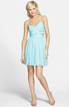 Hailey Logan Cutout Chiffon Dress (Juniors) available at #Nordstrom