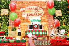 Looking for a party that's fun and full of Pizzaz? This Italian Pizzeria Birthday Party at Kara's Party Ideas is filled to the brim! Party Themes, Party Ideas, Baking Party, Pizza Party, Party Printables, Gender Neutral, Kara, Picnic, Balloons