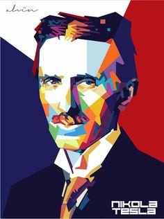 Nikola Tesla Art   Nikola Tesla by vinartvin