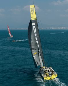 January 27, 2015. MAPFRE and Team Brunel match racing for the fourth place until the finish line in Sanya, after 23 days of sailing. - Victor Fraile/Volvo Ocean Race