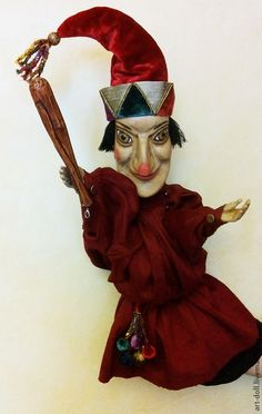 """Купить Кукла """"Петрушка"""" - петрушка, перчаточная кукла, петрушечная кукла, кукольный театр, мастерская кукол"""