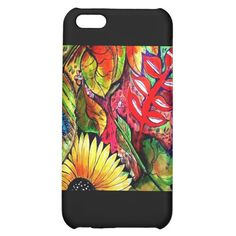 Aggelikis Butterflies & Flora Iphone Case on Black iPhone 5C Cases