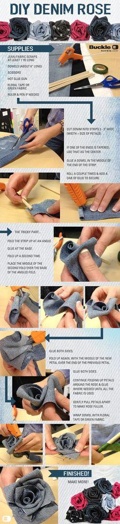 Very nice tutorial! Threads: DIY: Denim Rose