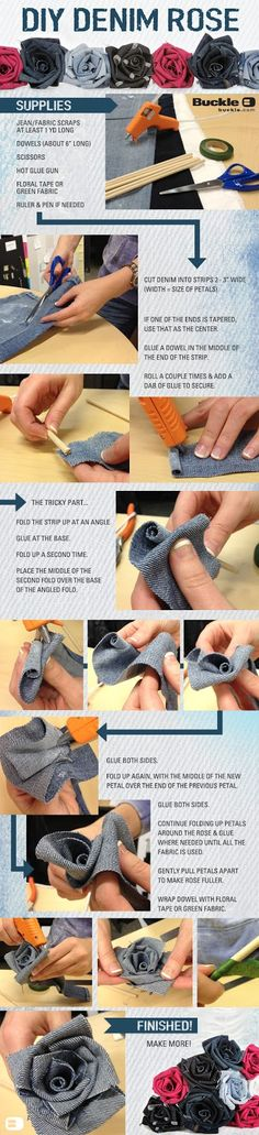Very nice tutorial! Threads: DIY: Denim Rose