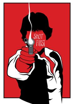 Did not just shoot first.  Shot, period.  Greedo never got a shot off at all.