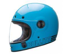 Bell Bullitt Full Face Classic Motorcycle Helmet - Retro Blue