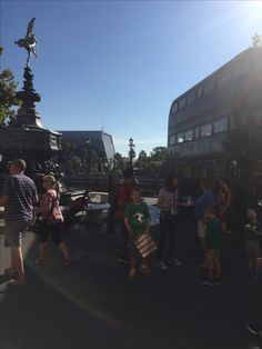 Harry Potter's triple decker bus outside the hidden entrance to Diagon Alley and the Wizarding World of Harry Potter's