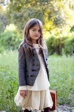 Tweed + Bubble Skirt #kids #fashion